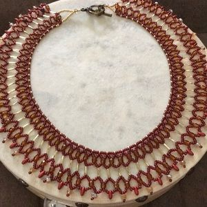 Amber Brown collar necklace